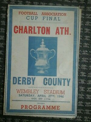 Fa cup final 1946 charlton v derby pirate programme