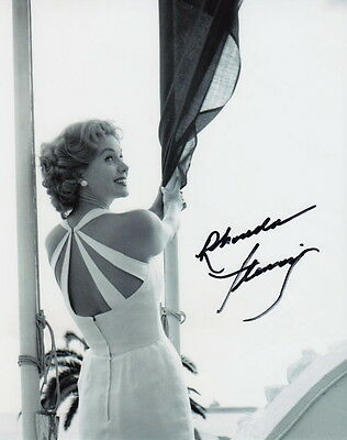 RHONDA FLEMING ~ OUT OF THE PAST ~ SIGNED 10x8 PHOTO COA
