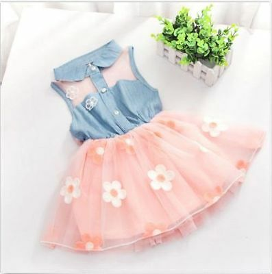 Baby Girl Dresses Infant Kid Toddler Party Wedding Tulle Dress 2-3 Years