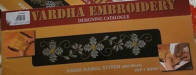 Vtg Embroidery Booklet Vardha Transfers and Designs complete vep1 book 1