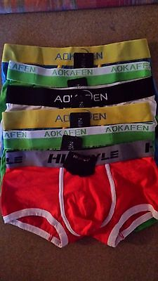 5 boxers homme taille S neufs marque AOKAFEN + 1 gratuit