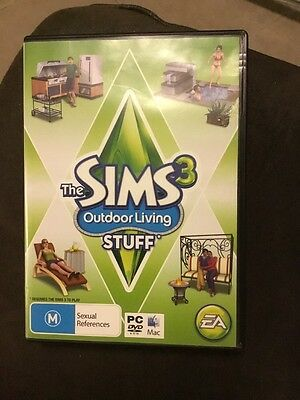 The Sims 3 Outdoor Living Stuff PC DVD ROM has Scratches