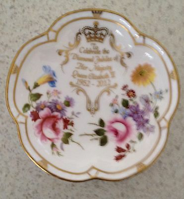 Royal Crown Derby - Diamond Jubilee Plate In Excellent Condition