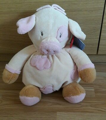 Lqqk Keel Toys Baby Keel Sunnyside Farm Puffballs Pig Soft Toy 25Cm With Tags