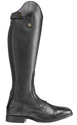 *Brogini Capitoli Lace Leather Long Riding Boots-Black-Free P&P*