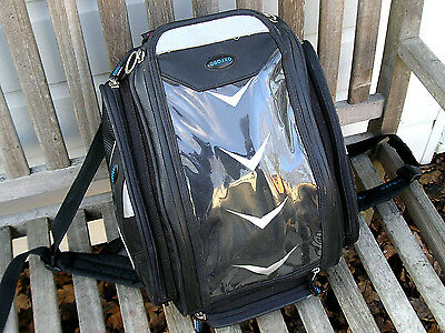Oxford Humpback Tank Bag / Back Pack With Fixings And Waterproof Cover