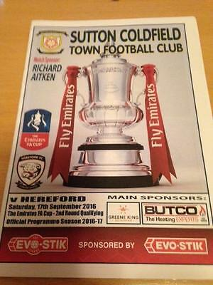 2016/17 Sutton Coldfield Town V Hereford - Fa Cup