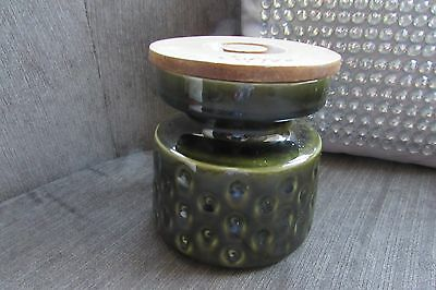 Retro Green Stoneware Coffee Jar