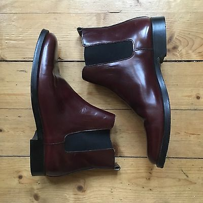 Vintage 60s CHELSEA Mod Carnaby Brown Mahogany Leather Boots Retro UK 8 Dylan