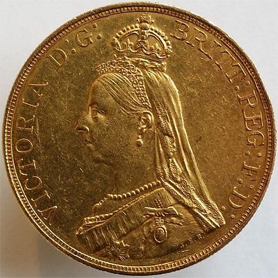1887Gold 5 Pounds Great Britain, Very Rare, Aunc++