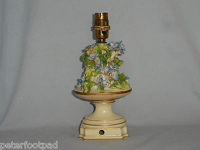DRESDEN Floral encrusted lamp base