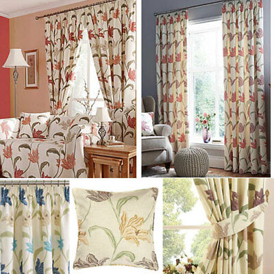 """Kinsale 3"""" pencil pleat Lined curtains, door curtains, cushions, all sizes"""