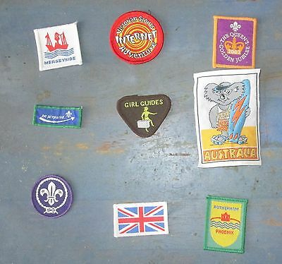 Nine Scout badges / Patches New