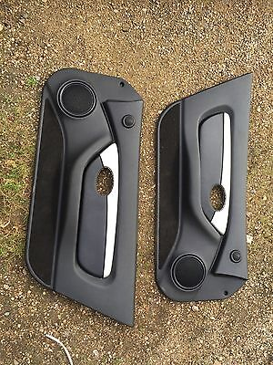 MG MGF TF 1.6 1.8 VVC Trophy PAIR DOOR CARDS Black Leather And Brushed Metal