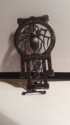Vintage Scottish  Silver Dunfermline Collage Of Physical Education Spider Badge