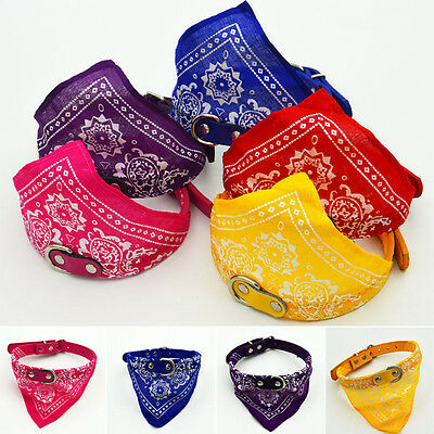 Dog Cat Pet Neckerchief Bandana Collar Adjustable Buckle Neck Dress Scarf Puppy