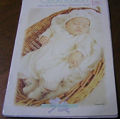 Cleckheaton Knit Book 423 Modern Little Babies Tiny Premature 000000-00 4& 8 ply