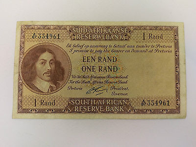 SOUTH AFRICA banknote 1 Rand  - 1961