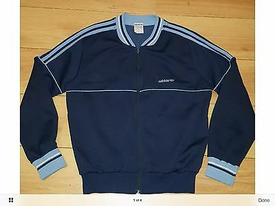 vintage adidas white/blue retro 1970s style top , very mod , very Northern Soul