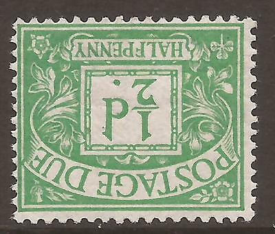 GB - KGV Postage Due 1914-22 - D1wi ½d emerald - Mounted mint