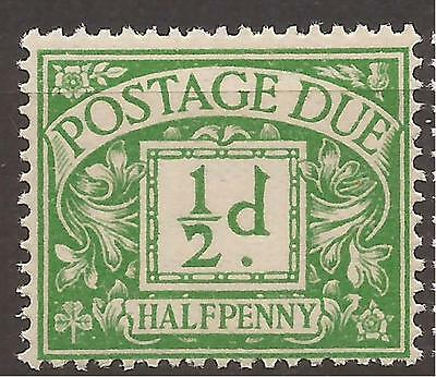 GB - KGV Postage Due - D10 ½d emerald - Mounted mint