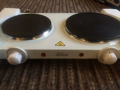 Portable electric 2 ring hob. Nearly new