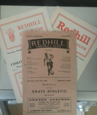 65/6 Redhill V Corinthian Casuals  (Ssc)  (Non League Football Programme)