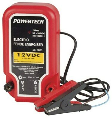 Powertech Electric Fence Energiser Electrify Upto 10Km Fence with SLA Battery