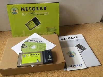 Netgear FA411 16bit PCMCIA Network / Ethernet Card Adapter 10/100 Mbps (amiga?)