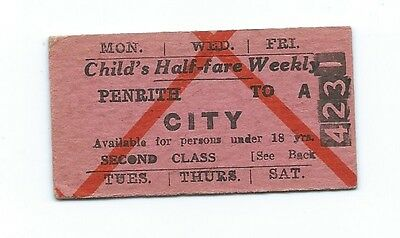 Lovely Old Child's 2nd Class Weekly PENRITH - CITY