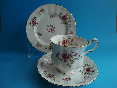 Paragon Pink Roses Trio Cup Saucer & Plate - Fragrance - Like New