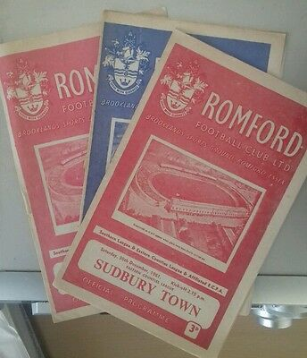 61/2 Romford Reserves V Sudbury Town    (Non League Football Programme)
