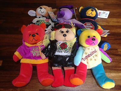 "Gifted Bear ~ 6 Assorted X Shop Stock With Tags Job/bulk Lot 8"" Or 22 Cm  (B)"