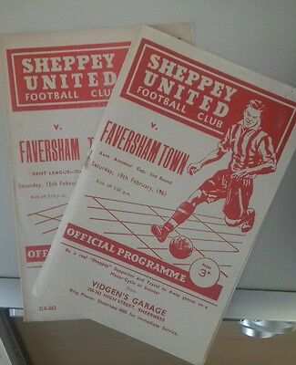 60/1 Sheppey Utd V Faversham     (Non League Football Programme)