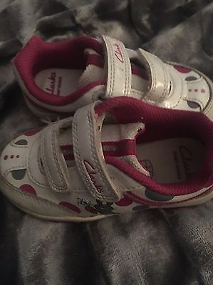 Girls Clark Flashing Trainers Size 5.5