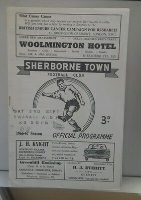 67/8 Sherborne V Swanage And Herston     (Non League Football Programme)
