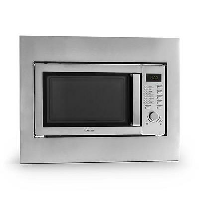 Klarstein Steel Microwave 23 L 800W / 1000W Grill Oven Built In / Table Top