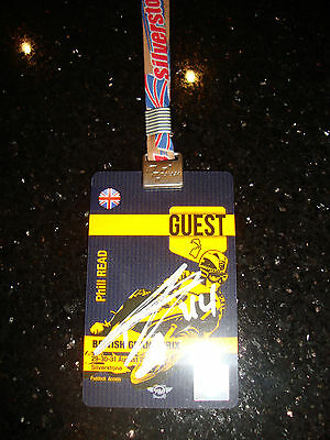 Official Moto Gp Full Access Paddock Pass - British 2014 - Signed By P Esparago