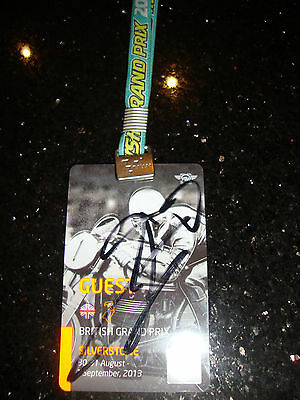 Official Moto Gp Full Access Paddock Pass - British 2013 - Signed By Lorenzo