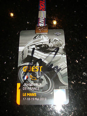 Official Moto Gp Full Access Paddock Pass - French 2013 - Signed By M Marquez