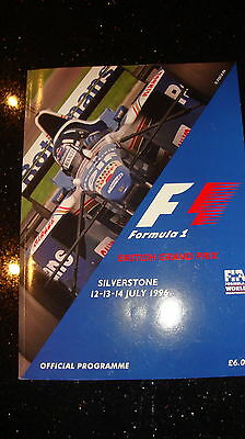 Official Fi Grand Prix Programme - British Gp 1996 - Signed