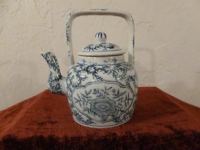 Darling Chinese Asian Teapot Blue And White  Porcelain (?)