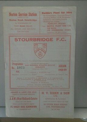 68/9 Stourbridge V Eastwood     (Non League Football Programme)