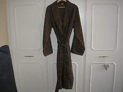 Vintage Lloyd Attree & Smith Belted Smoking Dressing Robe Gown Uk L Retro Rare