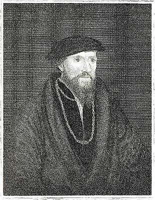 Sir Anthony Denny - Confidante of Henry VIII - After Hans Holbein Jr. - 1834