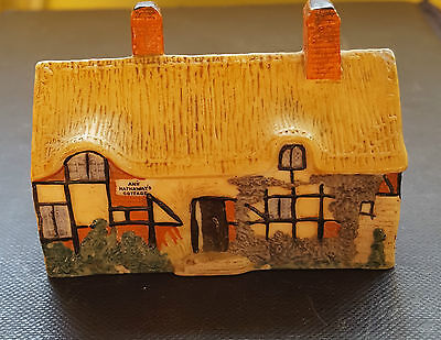 W H Goss crested china Ann Hathaways Cottage. Mint condition