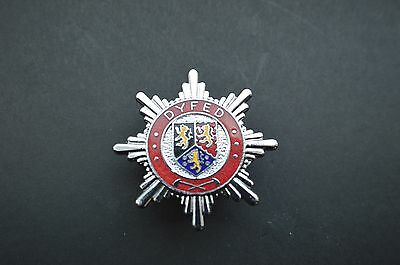 Dyfed County fire brigade cap badge.