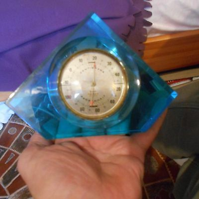 lucite geometric shapedBrit rototherm desk/wall thermometer