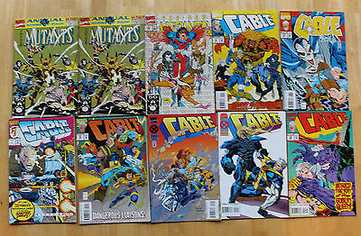 Cable and The New Mutants Marvel Comic Book Lot of 10