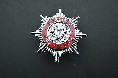 Carlisle fire service cap badge
